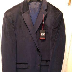 Navy velour sports coat